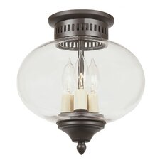 <strong>JVI Designs</strong> Classic Onions 3 Light Medium Flush Mount