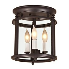 <strong>JVI Designs</strong> Murray Hill 3 Light Small Bent Flush Mount