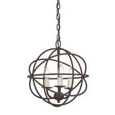Globe 3 Light Chandelier