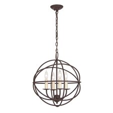 Globe 4 Light Chandelier