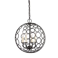 <strong>JVI Designs</strong> Globe Orbit 4 Light Chandelier