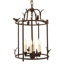 4 Light Hanging Bird Cage Lantern