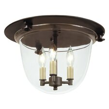 3 Light Bell Flush Mount