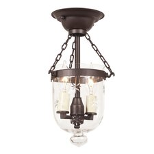 <strong>JVI Designs</strong> 2 Light Tiny Bell Jar Semi Flush Mount