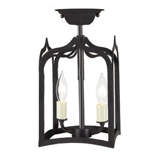 Gothic 2 Light Tiny Semi Flush Mount