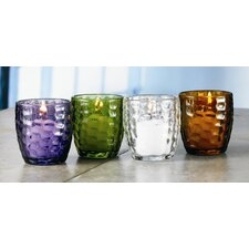 Dimple Glass Votive Candle Holder (Set of 6)