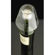 Glass Wine Bottle Candle Holder