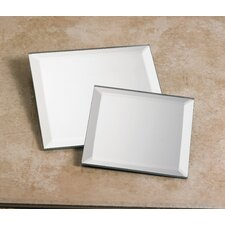 Square Mirror Plate (Set of 2)
