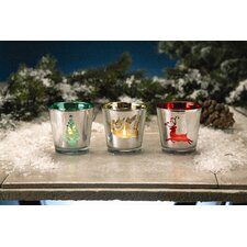 Christmas Glass Votive Holder (Set of 6)