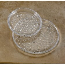 Raindrop Glass Pillar Plate (Set of 2)