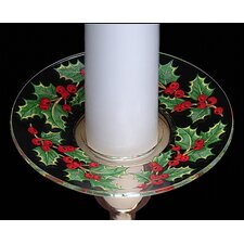 Christmas Holly Design Bobeche Candle Holder (Set of 4)