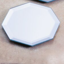 Glass Octagon Mirror Plate (Set of 2)