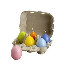 <strong>Biedermann and Sons</strong> Pastel Egg Candle (Set of 12)