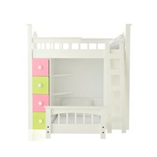 <strong>Laurent Doll</strong> 3 Piece Doll Loft Bed Set
