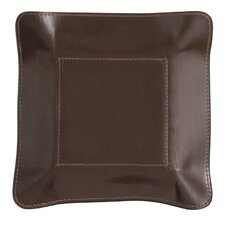 Leather Change Base Accessory Tray