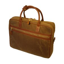 Waxed Canvas Negotiator Laptop Briefcase