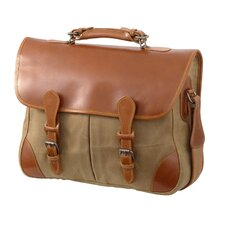 Waxed Canvas Angler's Laptop Briefcase