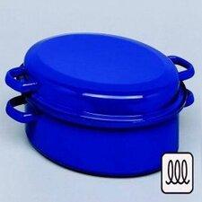 Bräter/Gansbräter aus Stahlblech in Blau