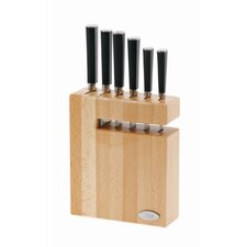 Asian 6 Piece Knife Set in Knife Block
