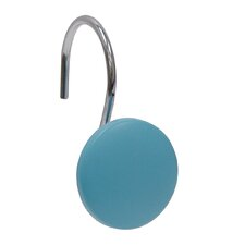 <strong>Elegant Home Fashions</strong> Blue Round Shower Curtain Hooks (Set of 12)