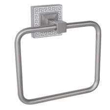 Greek Key Wall Mounted Towel Ring