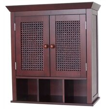 <strong>Elegant Home Fashions</strong> Cane Two-Door Wall Cabinet with Cubbies