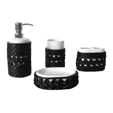 <strong>Elegant Home Fashions</strong> Sebrina 4 pieces Bathroom Accessory Set