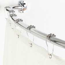 3-in-1 Adjustable Curved Shower Rod Set