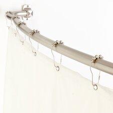 3-in-1 Adjustable Curved Shower Rod Set