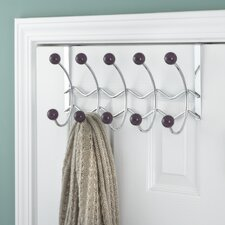 <strong>Elegant Home Fashions</strong> 5 Hook Over the Door Coat Rack