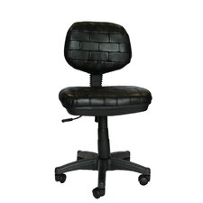 <strong>Elegant Home Fashions</strong> Secretary Cowhide Leather Chair