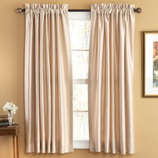 <strong>Elegant Home Fashions</strong> Evelyn Luxury Faux Silk Rod Pocket Window Curtains Panel (Set of 2)