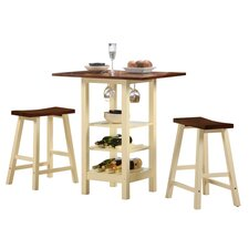 Kirkland 3 Piece Dining Table Set