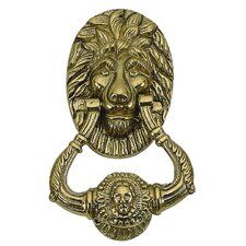 "<strong>BRASS Accents</strong> 7.5"" Lion Door Knocker"