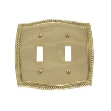 Rope Double Switch Wall Plate