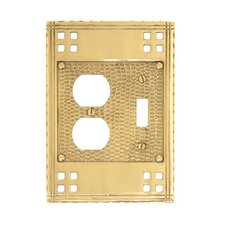 <strong>BRASS Accents</strong> Double Combo Switch Wall Plate