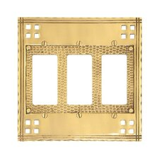 <strong>BRASS Accents</strong> Triple GFCI Switch Wall Plate