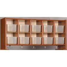 Eco Laminate 10 Cubby Wall Storage with Trays