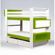 Austin Twin over Twin Bunk Bed with Bookshelves and Storage
