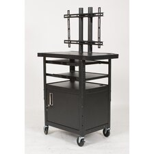 Height Adjustable Flat Panel TV Cart