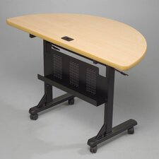 "48"" W Half-Round Flipper Table with Optional Seating"