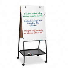 <strong>Balt</strong> Wheasel Easel Adjustable Melamine Dry Erase Board, 28-3/4 x 59-1/2, White