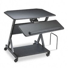 <strong>Balt</strong> Z-25 Ergonomic Workcenter, 30w x 24d x 30-3/4h, Black Laminate Top