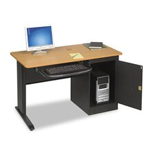 <strong>Balt</strong> LX48 Computer Security Workstation, 48w x 24d x 28-3/4h, Teak/Black