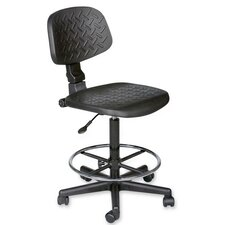 Height Adjustable Trax Stool with Dual Wheel