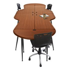 <strong>Balt</strong> iFlex Modular Writing Desking Small Half Round Table