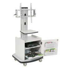 Mobile Plasma/LCD Stand with Cabinet