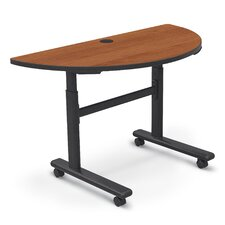 <strong>Balt</strong> Adjustable Height Flipper 1/2 Round Training Table