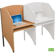 Deluxe Teak Laminate Study Carrel Add On