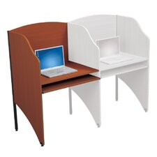 <strong>Balt</strong> Floor Carrel Cherry Laminate Study Carrel Desk Add-On